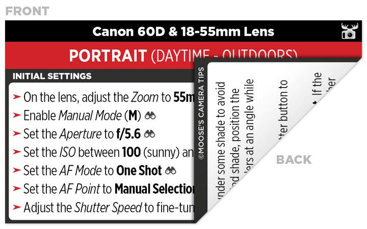 Sample Canon 60D Cheat Sheet