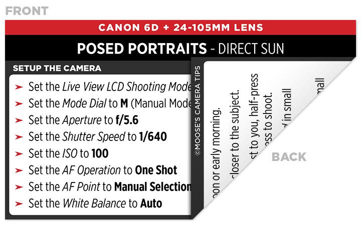 Sample Canon 6D Cheat Sheet