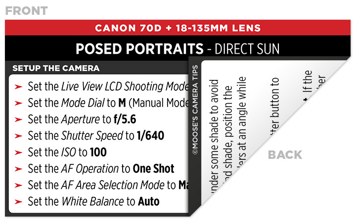 Sample Canon 70D Cheat Sheet