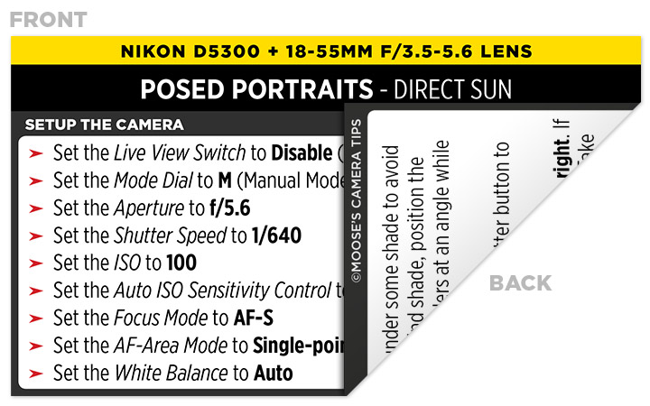 Sample Nikon D5300 Cheat Sheet