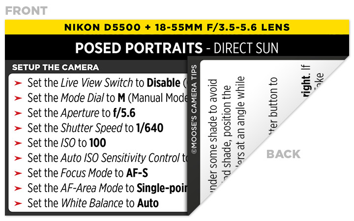 Sample Nikon D5500 Cheat Sheet