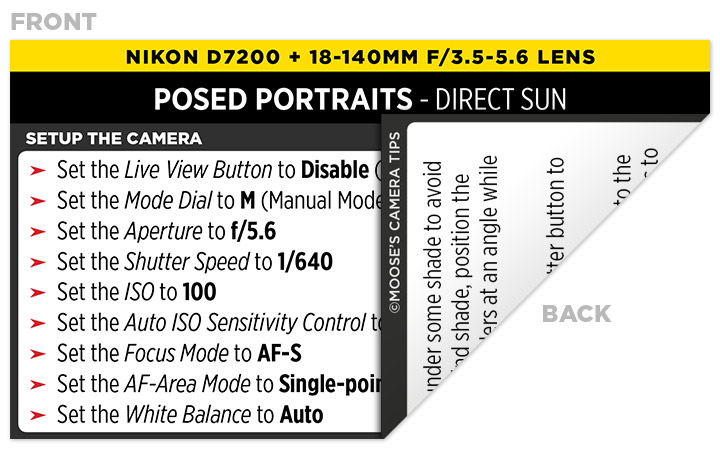 Sample Nikon D7200 Cheat Sheet