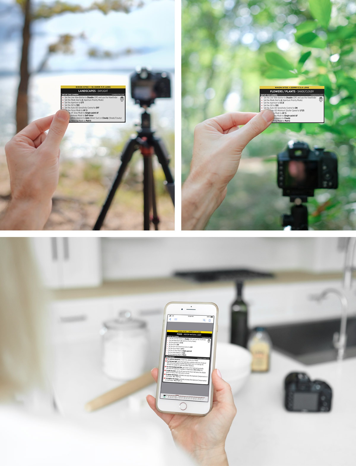 Nikon D750 Cheat Sheet for Food and Landscape Photography