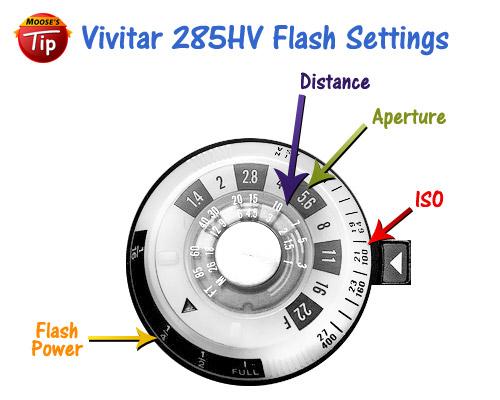 Vivitar 285HV Flash - Settings