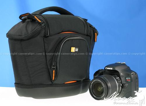 Canon T2i with the Caselogic Medium SLR Bag (SLRC-202) - © copyright cameratips.com