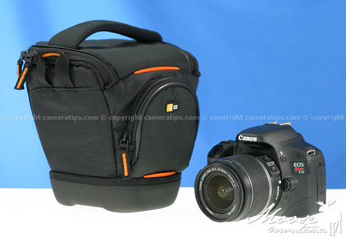 Canon T2i with the Caselogic SLR Camera Holster (SLRC-200) - © copyright cameratips.com
