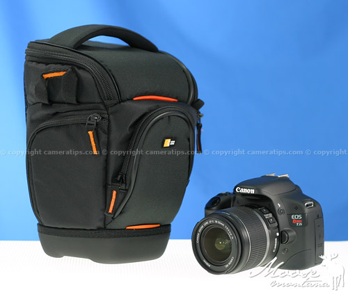 Canon T2i with the Caselogic SLR Zoom Holster (SLRC-201) - © copyright cameratips.com