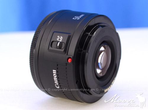 Canon 50mm f1.8 II EF lens AF/MF - © Copyright Cameratips.com