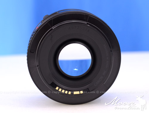 Canon 50mm f1.8 II EF lens focal length - © Copyright Cameratips.com