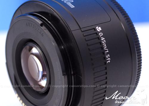 Canon 50mm f1.8 II EF lens mount - © Copyright Cameratips.com