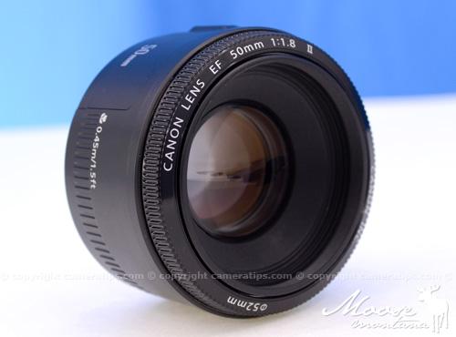 Canon 50mm f1.8 II EF lens specs - © Copyright Cameratips.com