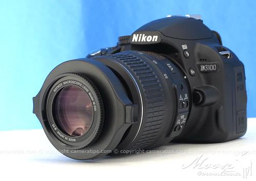 Nikon D3100 with Raynox DCR-250 - © Copyright Cameratips.com