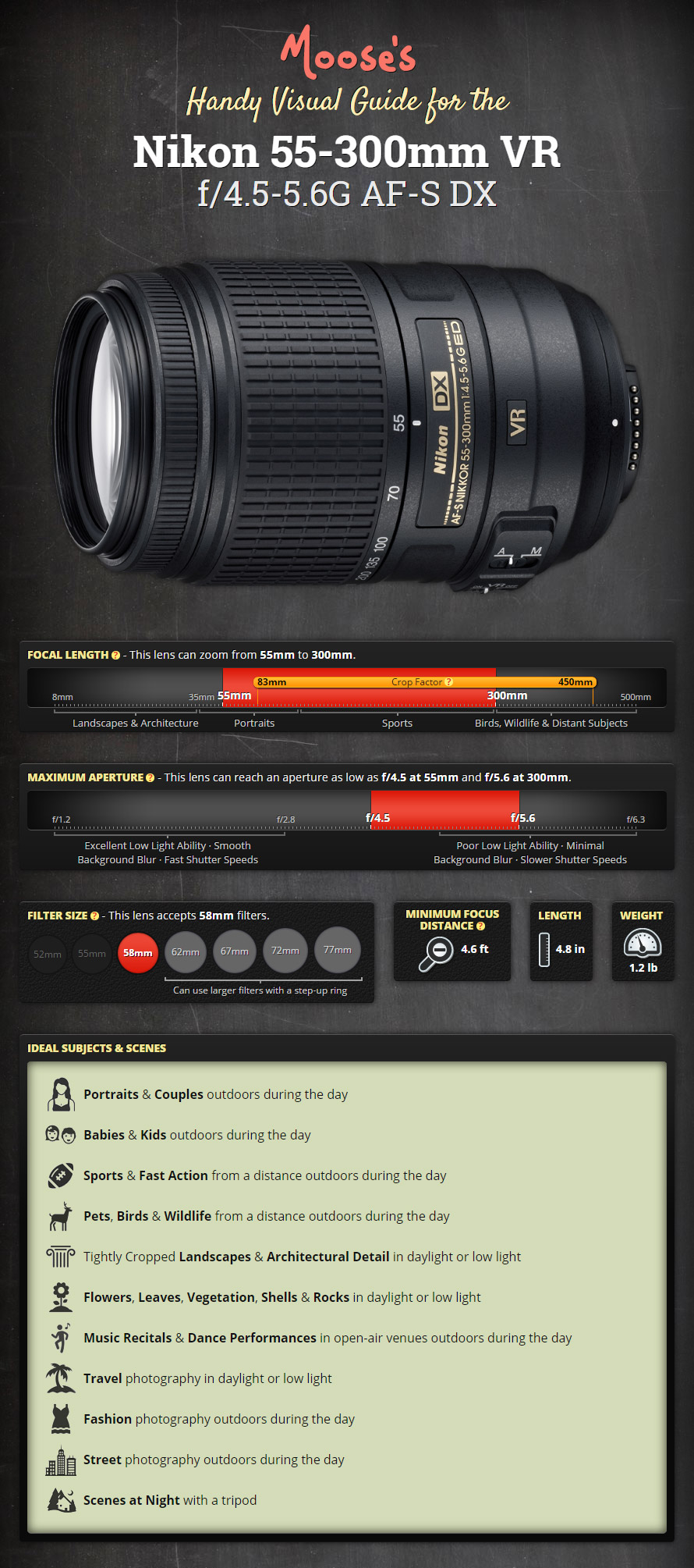 Moose's Visual Guide and Review for the Nikon 55-300mm VR