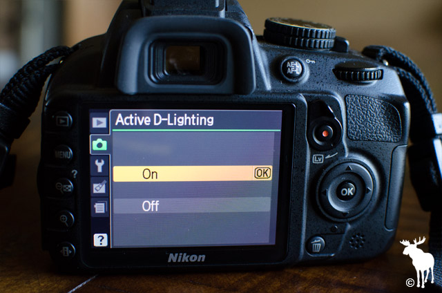Nikon D3100 Active D-Lighting