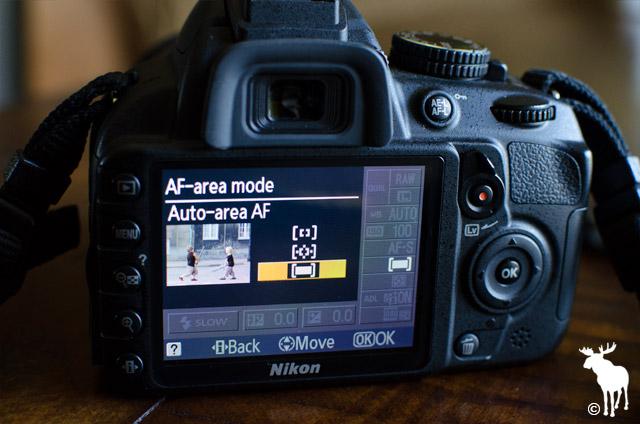 Nikon D3100 Auto-area AF