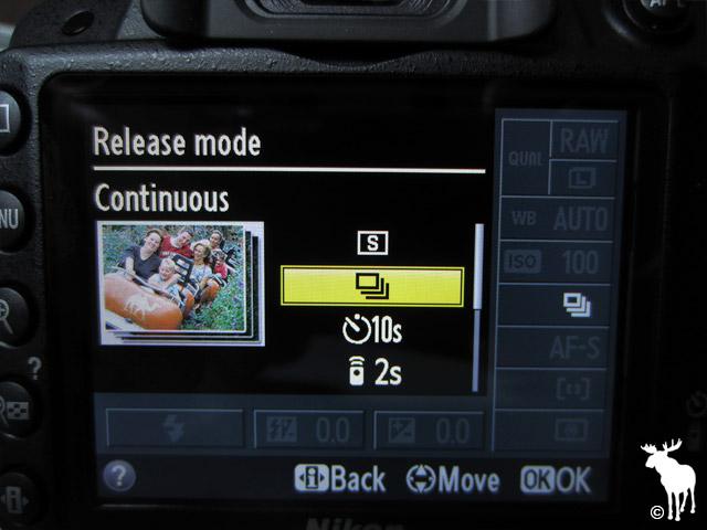Nikon D3200 Continuous Release Mode