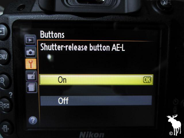 Nikon D3200 Shutter-release Button AE-L