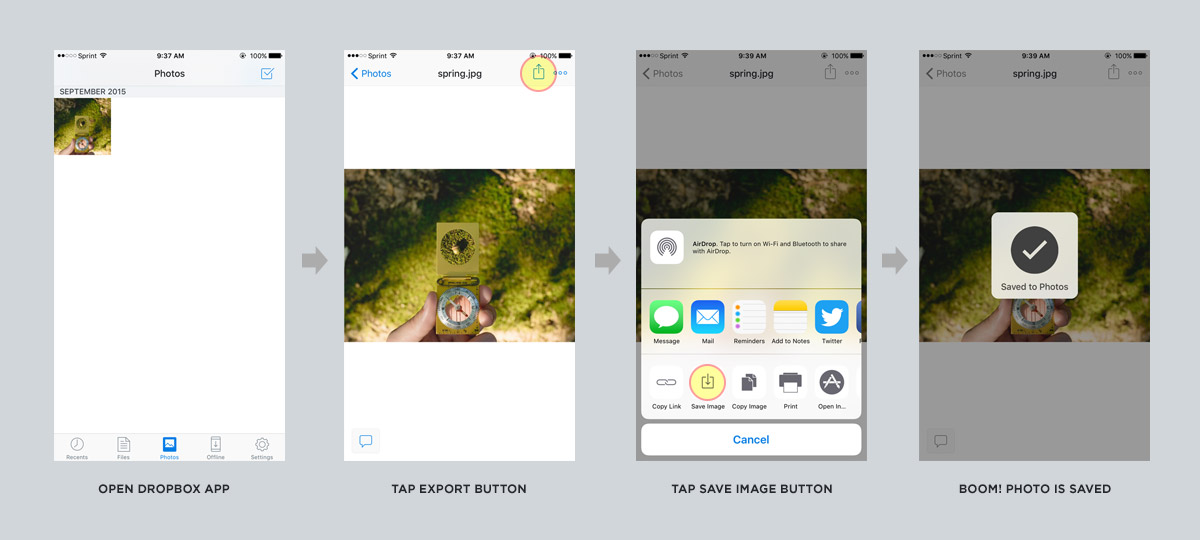 Dropbox to Instagram - Step 2